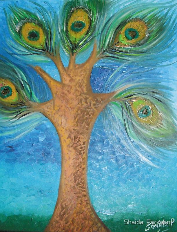 'the Famous Peacock Tree' by Shahida  Parveen