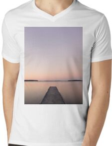 Silent Jetty Mens V-Neck T-Shirt