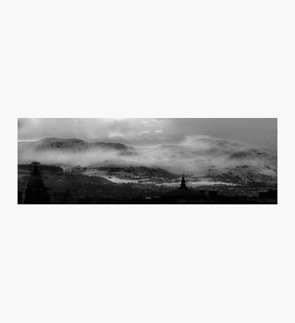 Pentland Hills Snow Storm Photographic Print
