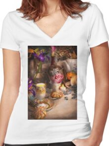 Tea Party - The magic of a tea party  Women's Fitted V-Neck T-Shirt
