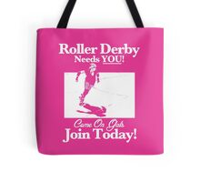 Roller Girl Recruitment Poster (Hot Pink) Tote Bag
