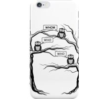 Funny Owls Saying Who/Whom - Comic Cartoon iPhone Case/Skin