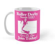 Roller Girl Recruitment Poster (Hot Pink) Mug