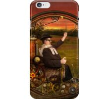 Steampunk - The gentleman's monowheel iPhone Case/Skin