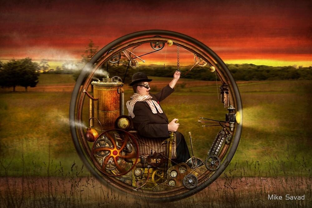 Steampunk - The gentleman's monowheel by Mike  Savad