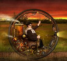 Steampunk - The gentleman's monowheel by Mike  Savad