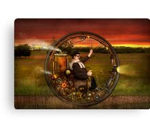 Steampunk - The gentleman's monowheel Canvas Print