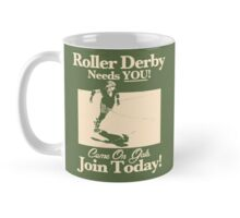 Roller Girl Recruitment Poster (Retro Green) Mug