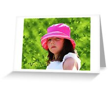 Jade in a pink hat Greeting Card