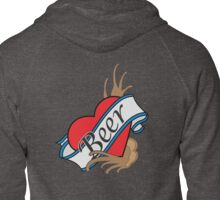 BEER Zipped Hoodie