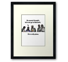 King Arthur - Camelot is a Silly Place Framed Print