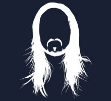 Steve Aoki White Head (For dark shirts) by Georg Bertram