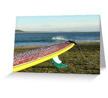 Colourful longboard Greeting Card
