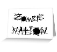 Zombie Nation. Greeting Card
