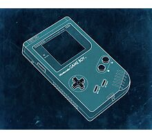 Distressed Gameboy in Cyan Photographic Print