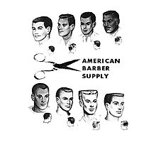 Vintage Barber Menu T-shirt Photographic Print