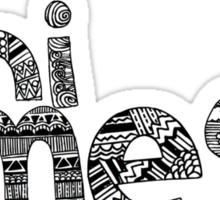 Chi Omega Doodle Letters Sticker