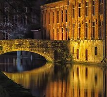 Night time reflections in Bruges by Mortimer123