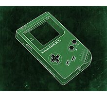 Distressed Gameboy in Green Photographic Print