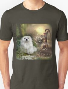 Snowdrop the Maltese at The Wishing Well T-Shirt