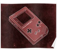Distressed Gameboy in Red Poster