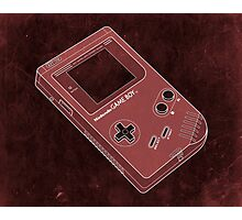 Distressed Gameboy in Red Photographic Print
