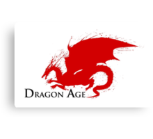 Dragon Age Dragon Shape Canvas Print