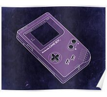 Distressed Gameboy in Purple Poster