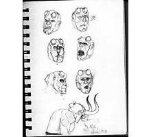 Hellboy Expression Sheet Photographic Print