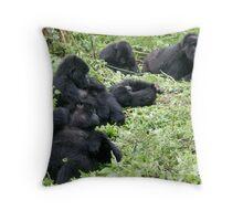 Mountain Gorillas Throw Pillow