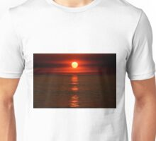 Red sunset over the Indian Ocean Unisex T-Shirt