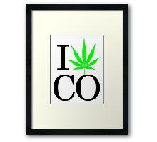 I Heart CO - Legalized Marijuana Logo Framed Print