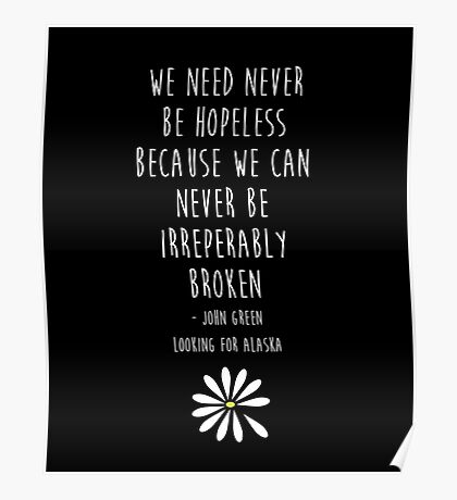 We need never be hopeless Poster