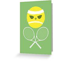 Tennis Skull and Crossbones Greeting Card