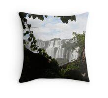 Glimpse of Iguazu falls Throw Pillow