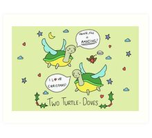 Two Turtle Doves Art Print