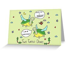 Two Turtle Doves Greeting Card