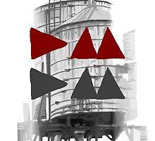 Depeche Mode : Delta Machine Paint cover - DM DM - water tower 1 by Luc Lambert
