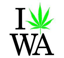 I Heart WA - Legalized Marijuana Logo Photographic Print