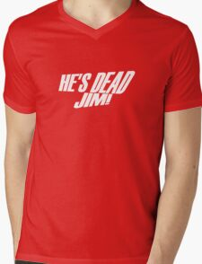 He's Dead, Jim! Mens V-Neck T-Shirt