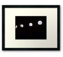 Imprisoned lights Framed Print