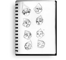 Expression Sheet Canvas Print