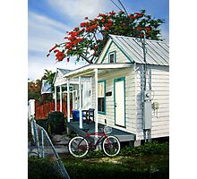 Red Bycicle Photographic Print