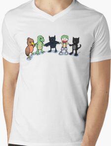 Batty and Friends Mens V-Neck T-Shirt