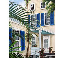 Blue Shutters Photographic Print