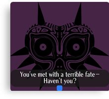 Legend of Zelda - Majora's Mask: Terrible Fate Canvas Print