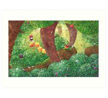 Forêt en fleur Art Print