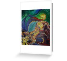 Sleeping Female Nude (Oils)- Greeting Card
