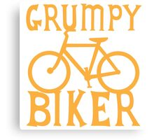 Grumpy BIKER! with bicycle Canvas Print