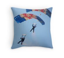 The RAF Falcons Freefall Parachute Display Team 5 Throw Pillow